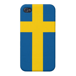 Flag of Sweden Savvy iPhone 4 Cases For iPhone 4