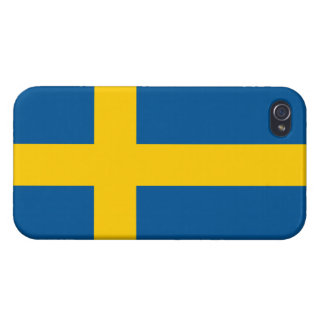 Flag of Sweden Savvy iPhone 4 iPhone 4/4S Cases