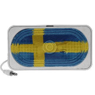 Flag of Sweden Scandinavian Yellow Cross On Blue Portable Speaker