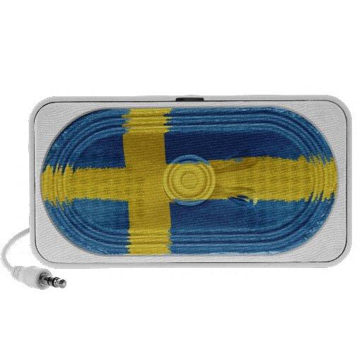 Flag of Sweden Scandinavian Yellow Cross On Blue Mini Speakers