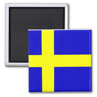 Flag of Sweden Square Magnet