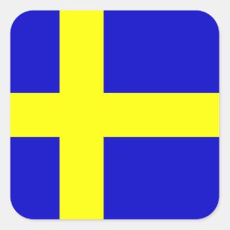 Flag of Sweden Square Sticker