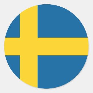 Flag of Sweden Round Sticker