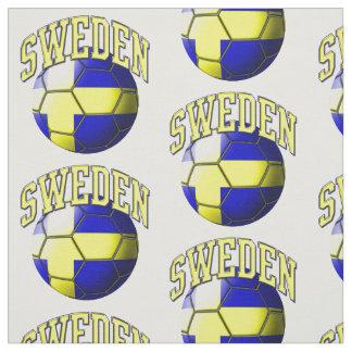 Flag of Sweden Swedish Soccer Ball Pattern Fabric