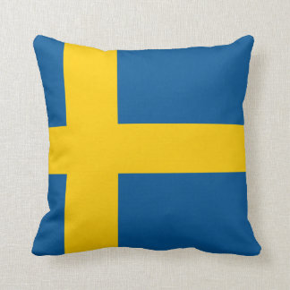 flag of sweden throw cushions
