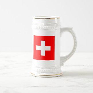 Flag of Switzerland Beer Stein