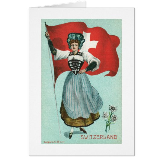 Flag of Switzerland Card