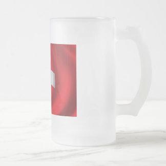 Flag of Switzerland Frosted Glass Mug