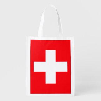 Flag of Switzerland Reusable Grocery Bag