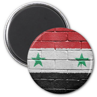 Flag of Syria 6 Cm Round Magnet