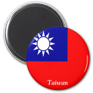 Flag of Taiwan 6 Cm Round Magnet
