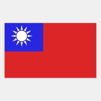 Flag of Taiwan Rectangular Sticker