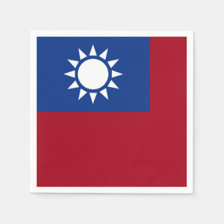 Flag of Taiwan Republic of China Paper Serviettes