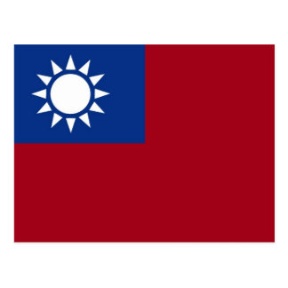 Flag of Taiwan Republic of China Postcard