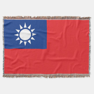 Flag of Taiwan Republic of China Throw Blanket