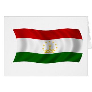 Flag of Tajikistan Greeting Card