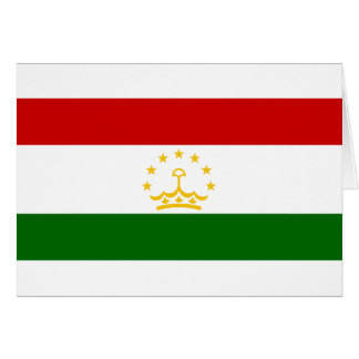 Flag_of_Tajikistan Greeting Card