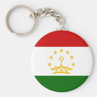 Flag of Tajikistan Basic Round Button Key Ring