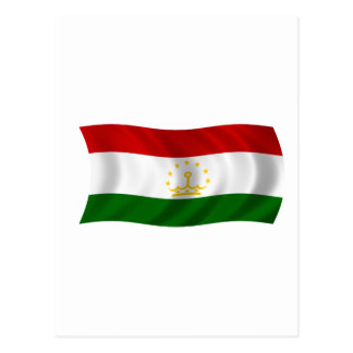 Flag of Tajikistan Postcard