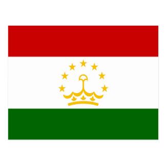 Flag of Tajikistan Postcard