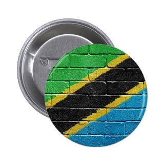 Flag of Tanzania 6 Cm Round Badge