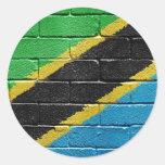 Flag of Tanzania Round Stickers