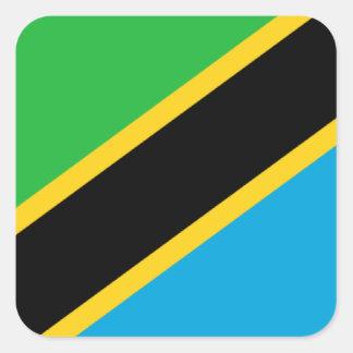 Flag of Tanzania Square Sticker