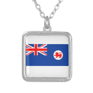 Flag of Tasmania Silver Plated Necklace