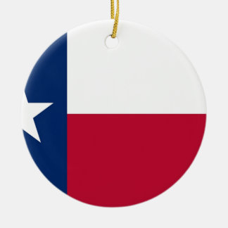 Flag of Texas Christmas Ornament