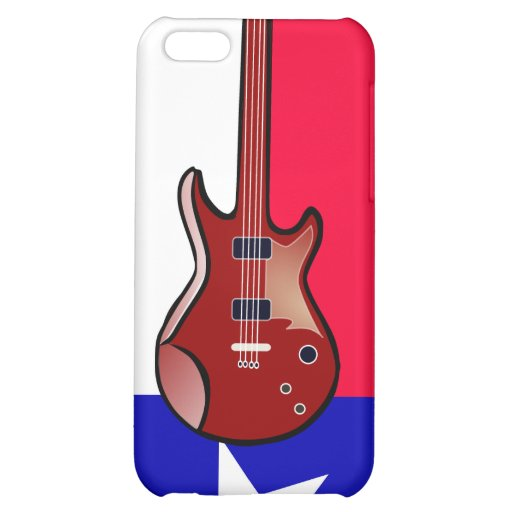 Flag of Texas Electric Guitar iPhone 4 Case