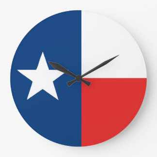 Flag of Texas Large Clock