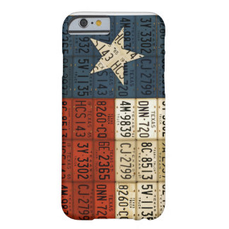 Flag of Texas Lone Star State License Plate Art Barely There iPhone 6 Case