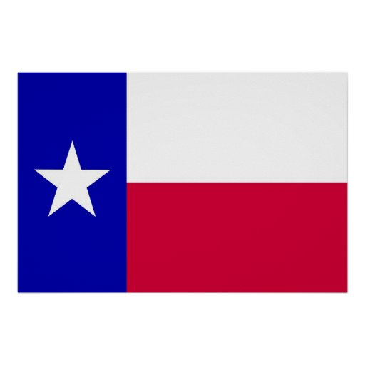 Flag of Texas Poster