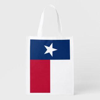 Flag of Texas Reusable Grocery Bag