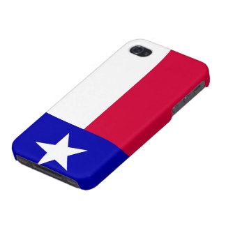 Flag of Texas Savvy iPhone 4 Glossy Finish iPhone 4/4S Cases