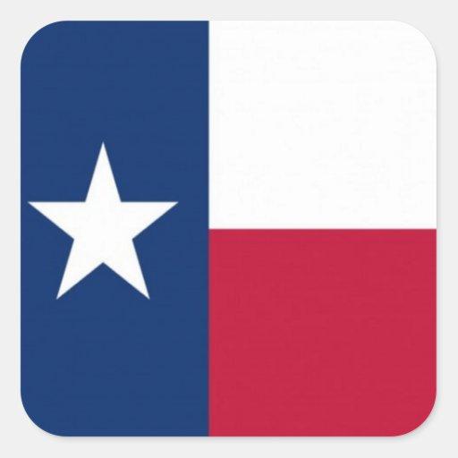 Flag of Texas Square Sticker