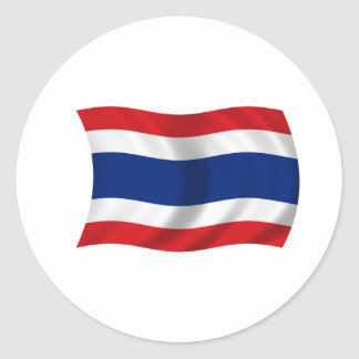 Flag of Thailand Classic Round Sticker