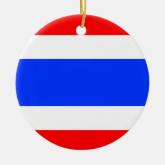 Flag of Thailand Round Ceramic Decoration