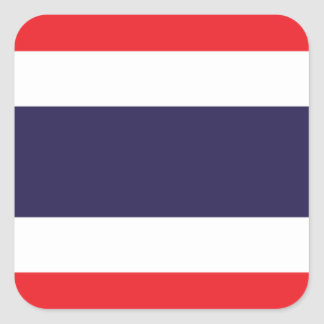 Flag of Thailand Square Sticker