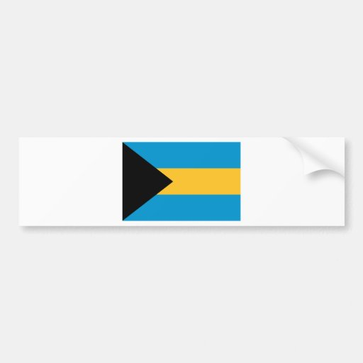 Flag of the Bahamas Bumper Stickers