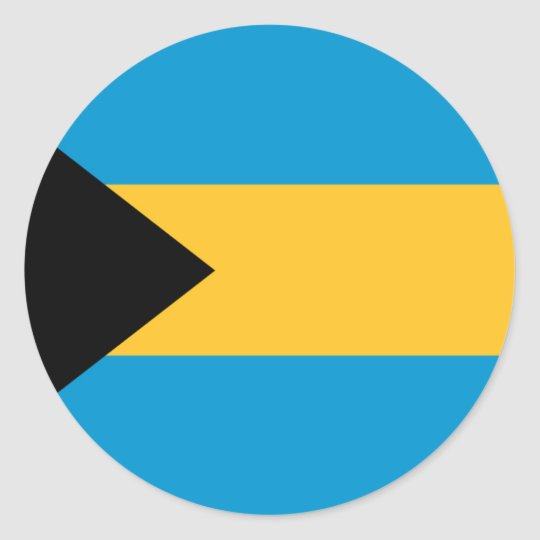 Flag of the Bahamas Classic Round Sticker