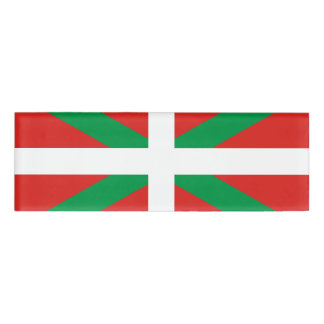 Flag of the Basque Country Name Tag