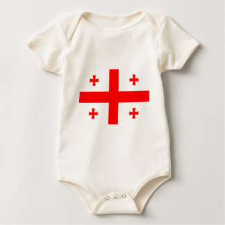 Flag Of The Country Of Georgia Baby Bodysuit