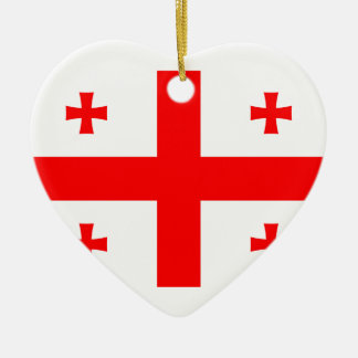 Flag Of The Country Of Georgia Ceramic Heart Decoration