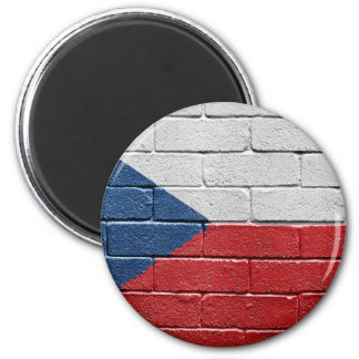 Flag of the Czech Republic 6 Cm Round Magnet