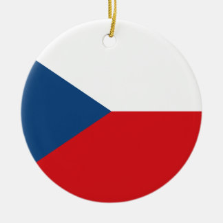 Flag of the Czech Republic - Česká vlajka Christmas Ornament