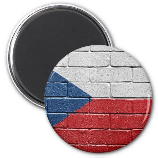 Flag of the Czech Republic Refrigerator Magnet