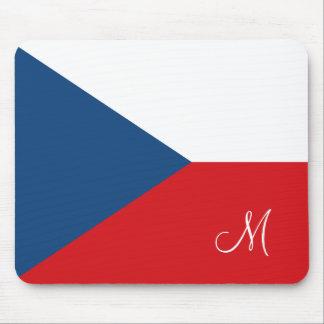 Flag of the Czech Republic Monogrammed Mouse Mat