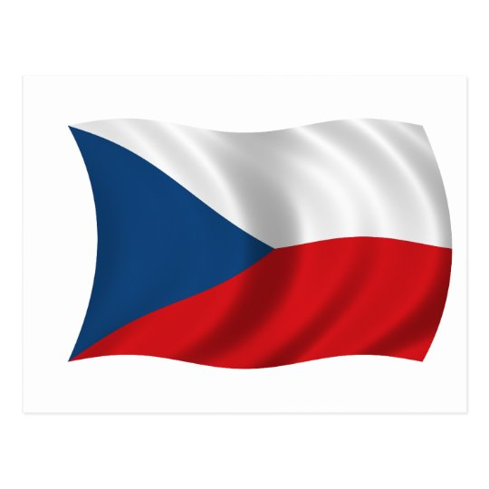 Flag of the Czech Republic Postcard