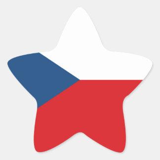 Flag_of_the_Czech_Republic Star Sticker